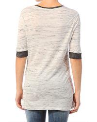Calvin Klein | Gray Short Sleeve Top | Lyst