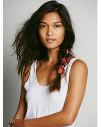 Free People - Orange Floral Braid Ins - Lyst