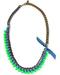 Lanvin | Metallic Beaded Necklace | Lyst