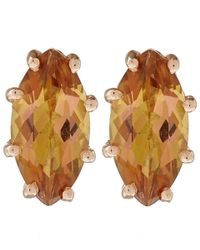 Suzanne Kalan | Metallic Rose Gold Champagne Topaz Marquis Stud Earrings | Lyst