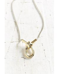 Giles & Brother - Metallic X Knot Pendant Necklace - Lyst
