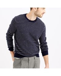 J.Crew | Blue Softspun Sweater In Ditty Stripe for Men | Lyst
