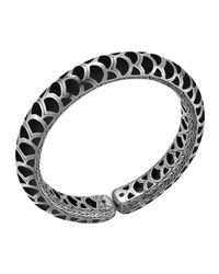 John Hardy | Metallic Naga Silver Enamel Flex Cuff With Black Enamel for Men | Lyst