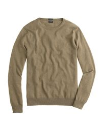 J.Crew - Natural Slim Cotton-Cashmere Crewneck Sweater for Men - Lyst