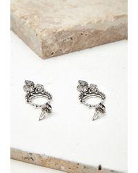 Forever 21 | Metallic Faux Stone Drop Earrings | Lyst