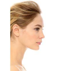 Blanca Monros Gomez - Metallic Small Wavy Stud Earrings - Lyst