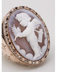Amedeo | Brown Cupid Sardonyx Ring | Lyst