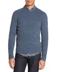 Original Penguin | Blue Heritage Slim Fit Lambswool Crewneck Sweater for Men | Lyst