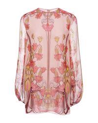 Giamba | Pink Liberty Silk Georgette Blouse | Lyst