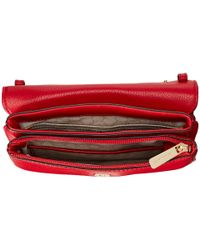 MICHAEL Michael Kors - Red Bedford Double Gusset Crossbody - Lyst