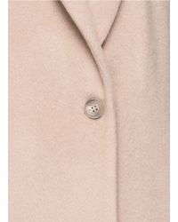 T By Alexander Wang - Natural Shawl Collar Mohair Blend Coat - Lyst
