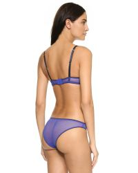 Stella McCartney - Purple Ellie Leaping Contour Balconnet Bra - Cotton Flower Print - Lyst
