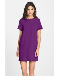 Felicity & Coco | Purple Crepe Shift Dress | Lyst