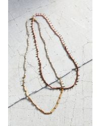 Erin Considine - Natural X Uo Nouveau Bead Necklace - Lyst