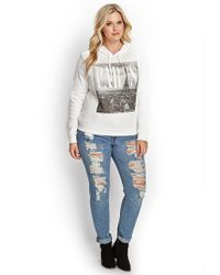 Forever 21 - White Plus Size Paris Hoodie - Lyst