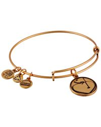 ALEX AND ANI - Metallic Hole In One Charm Bangle - Lyst