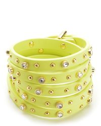 Juicy Couture | Green 5 Wrap Studded Bracelet | Lyst