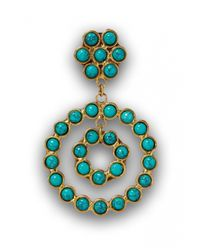 Sylvia Toledano | Blue Turquoise Flower Earrings | Lyst