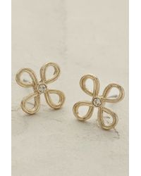 Anthropologie | Metallic Petalle Earrings | Lyst