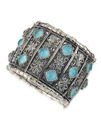 Konstantino - Blue Turquoise Doublet Cuff Bracelet - Lyst