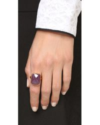 Ringly | Metallic Wine Bar Tech Ring - Pink Sapphire | Lyst