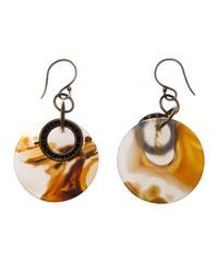 Beth Orduna - Orange Agate Slice Earring - Lyst