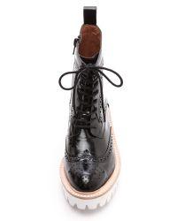 Jeffrey Campbell - Clash Lug Sole Combat Boots - Black - Lyst