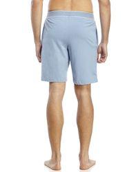 Original Penguin - Blue Knit Jam Lounge Shorts for Men - Lyst