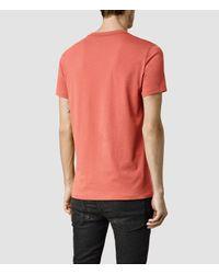 AllSaints - Orange Tonic Crew T-shirt for Men - Lyst
