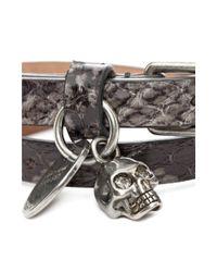 Alexander McQueen | Metallic Double Wrap Skull Bracelet for Men | Lyst