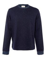 Oliver Spencer - Blue Navy Cotton Fleck Jumper for Men - Lyst