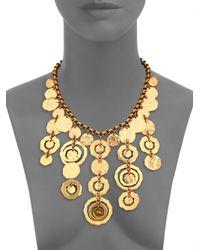 Oscar de la Renta - Metallic Circle Bib Necklace - Lyst