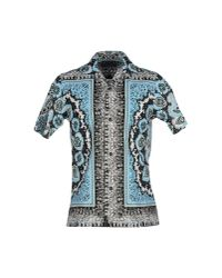Dolce & Gabbana - Blue Printed Shirt for Men - Lyst