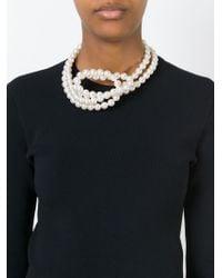 Stella McCartney | Metallic Pearl Necklace | Lyst