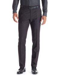 BOSS - Gray 'genesis'   Slim Fit, Virgin Wool Dress Pants for Men - Lyst