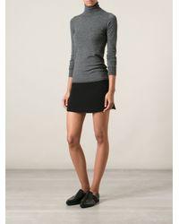 Vanessa Bruno | Black Mini Skirt with Side Slits | Lyst