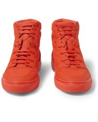 Balenciaga | Red Pleated High-Top Sneakers for Men | Lyst