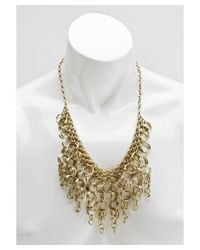 Kenneth Jay Lane | Metallic Women's Gold Plated Necklace With Rings | Lyst