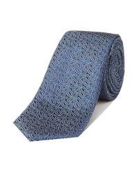 Simon Carter - Blue Patterned Tie for Men - Lyst
