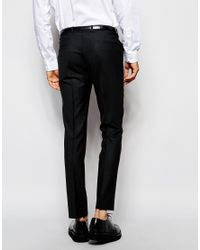 Noak - Black Suit Pants In Super Skinny Fit for Men - Lyst