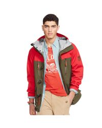 Polo Ralph Lauren | Red Two-toned Hooded Anorak for Men | Lyst