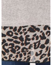 Izabel London - Gray Polyester Elastane Long Sleeve Animal - Lyst