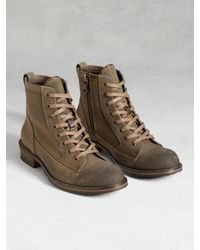 John Varvatos | Brown Lincoln Utility Boot for Men | Lyst