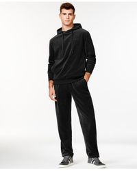 Sean John - Black Men's Two-piece Velour Hoodie And Pants Set for Men - Lyst