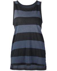 Current/Elliott | Blue Striped Tank Top | Lyst