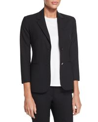 The Row - Black Two-Button Stretch-Cotton Blazer - Lyst
