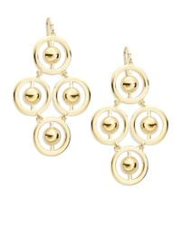 Trina Turk | Metallic Goldtone Circular Chandelier Earrings | Lyst