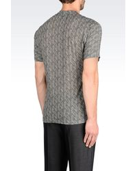 Emporio Armani - Gray Printed T-shirt for Men - Lyst