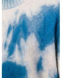 The Elder Statesman - Blue Tie-Dye Cashmere Sweater - Lyst