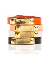 Linea Pelle | Orange Grayson Metal Plate Bracelet | Lyst